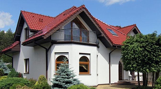 rzut od strony ogrodu na ekskluzywną rezydencję do sprzedaży Wieluń (okolice)