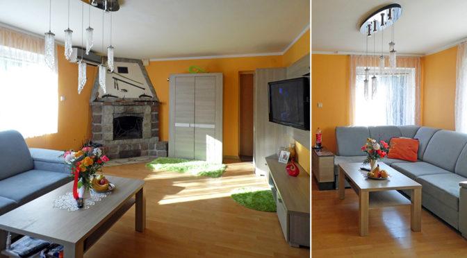 salon z kominkiem w luksusowej rezydencji na sprzedaż Kwidzyn (okolice)