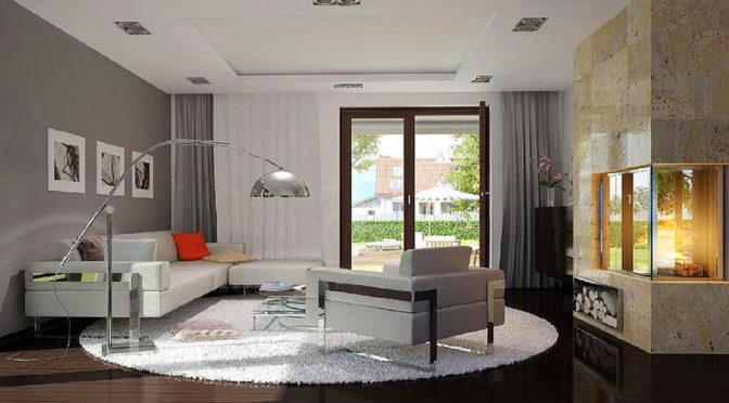 komfortowy salon w luksusowej rezydencji na sprzedaż Suwałki (okolice)