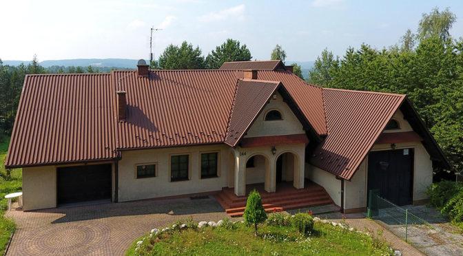 widok lotu ptaka na ekskluzywną rezydencję do wynajęcia Tarnów-okolice