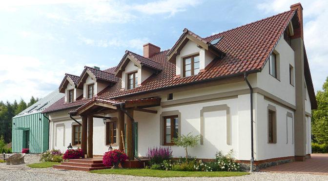 reprezentacyjne wejście do ekskluzywnej rezydencji na sprzedaż Elbląg (okolice)