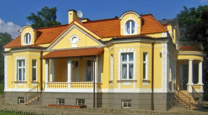 reprezentacyjne wejście do luksusowej rezydencji na sprzedaż Inowrocław (okolice)