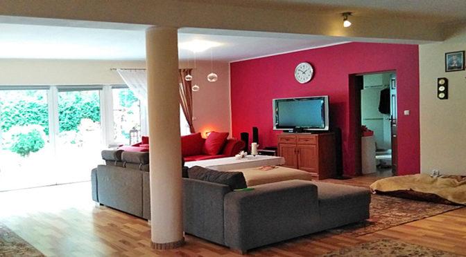 nowoczesny salon w ekskluzywnej rezydencji na wynajem Szczecin