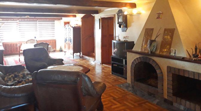prestiżowy salon z kominkiem w ekskluzywnej rezydencji na sprzedaż Kalisz (okolice)