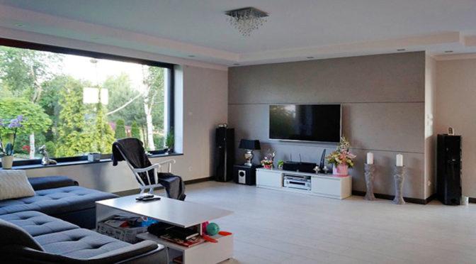 nowoczesny salon w luksusowej rezydencji do sprzedaży Konin (okolice)