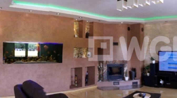 fragment prestiżowego wnętrza luksusowej rezydencji do sprzedaży Mazury