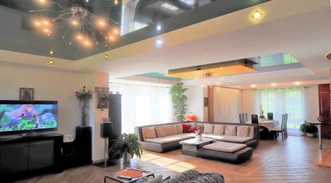 zaprojektowane w nowoczesnym designie wnętrze luksusowej rezydencji do sprzedaży Ustroń