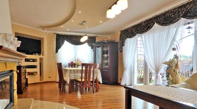 wytworny salon w luksusowej rezydencji na sprzedaż Kwidzyn (okolice)