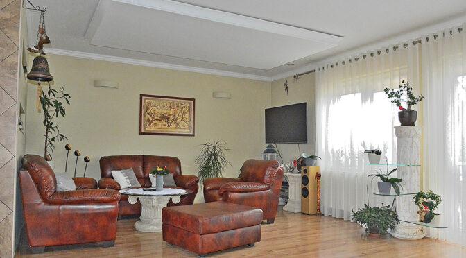 stylowy salon w luksusowej rezydencji do sprzedaży Elbląg (okolice)
