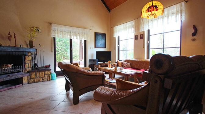 przestronny salon w ekskluzywnej rezydencji do sprzedaży Drawsko Pomorskie