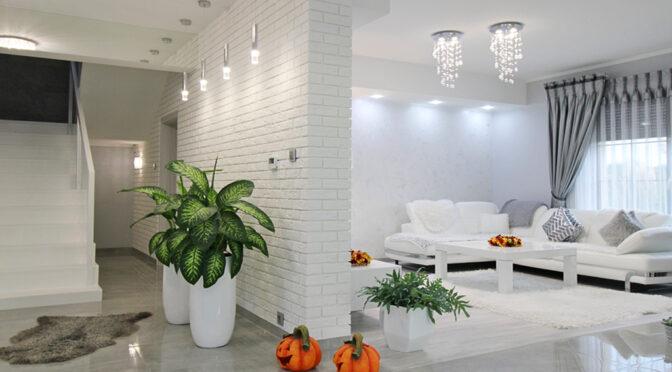 efektownie oświetlone wnętrze luksusowej rezydencji do sprzedaży Gorzów Wielkopolski
