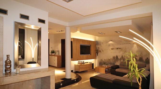 oryginalny i wytworny salon w luksusowej rezydencji na sprzedaż Bielsko-Biała (okolice)