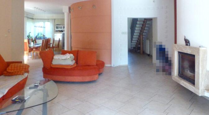 nowoczesny salon z kominkiem w ekskluzywnej rezydencji do sprzedaży Piotrków Trybunalski