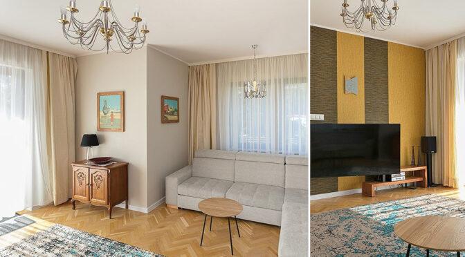 stylowo wykończony salon w ekskluzywnej rezydencji do sprzedaży Gdynia