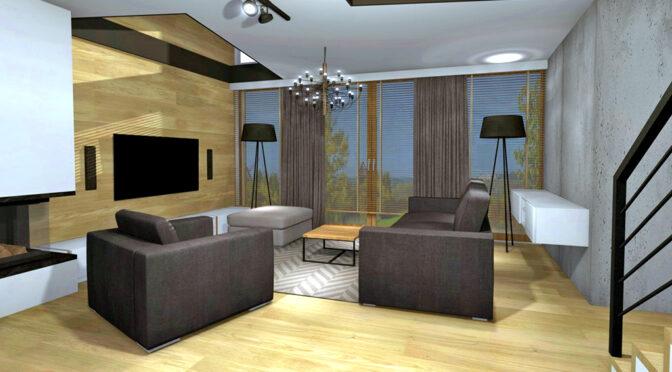 reprezentacyjny salon w ekskluzywnym apartamencie na sprzedaż Kwidzyn