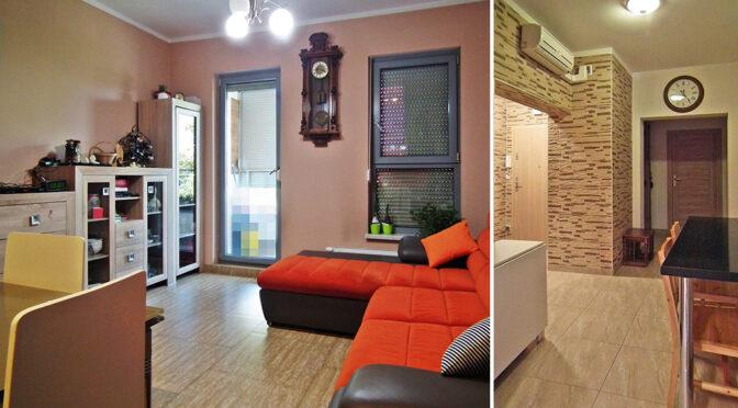 elegancki styl wykończenia salonu w ekskluzywnym apartamencie na sprzedaż Legnica