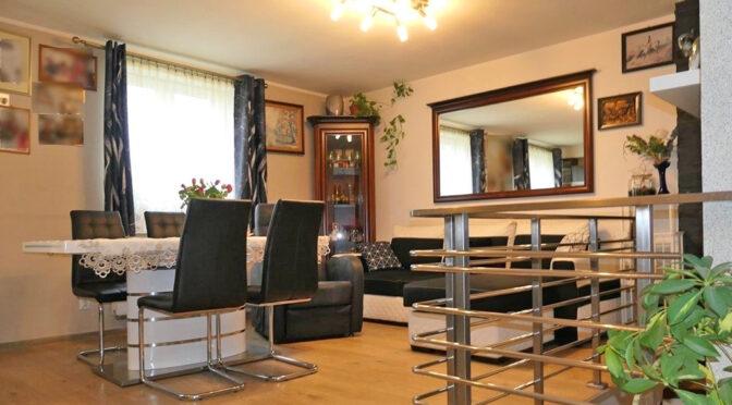 elegancki pokój dzienny w ekskluzywnym apartamencie do sprzedaży Kwidzyn