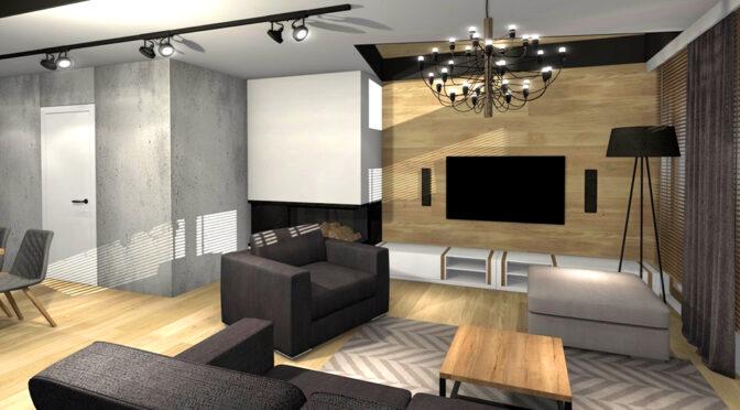 zaprojektowane zgodnie z najnowszymi trendami wnętrze ekskluzywnego apartamentu do sprzedaży Kwidzyn