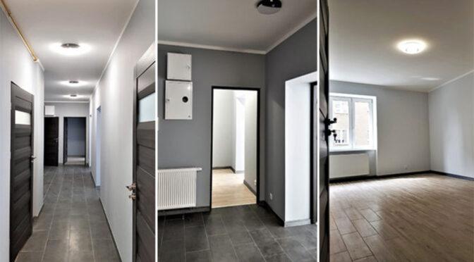 trzy ujęcia eleganckiego wnętrza luksusowego apartamentu do sprzedaży Poznań