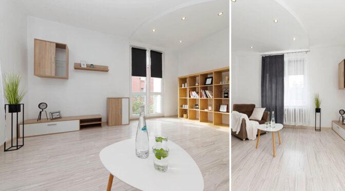 zaprojektowane w minimalistycznym stylu wnętrze luksusowego apartamentu do sprzedaży Tarnów