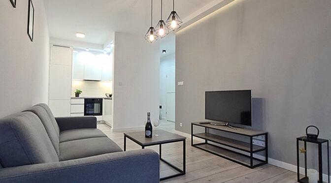 kameralny salon w ekskluzywnym apartamencie do wynajęcia Wieluń