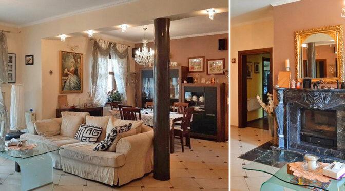 imponujący bogactwem salon w ekskluzywnej rezydencji na sprzedaż Legnica (okolice)