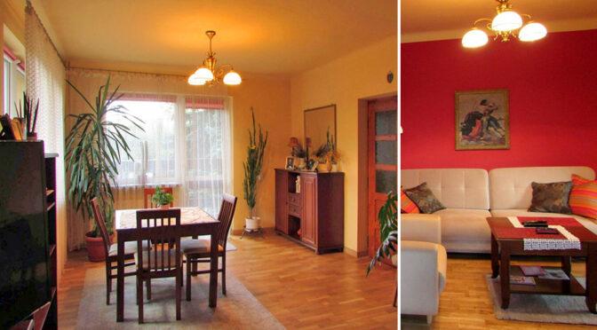 po lewej salon, po prawej pokój dzienny w luksusowej rezydencji na sprzedaż Rzeszów