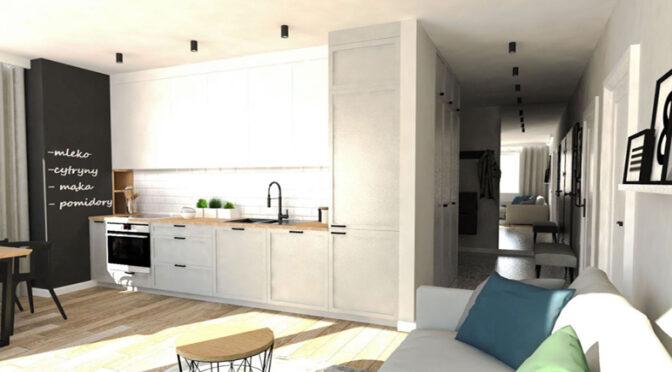 zaprojektowane zgodnie z najnowszymi trendami wnętrze luksusowego apartamentu na sprzedaż Ostrów Wielkopolski