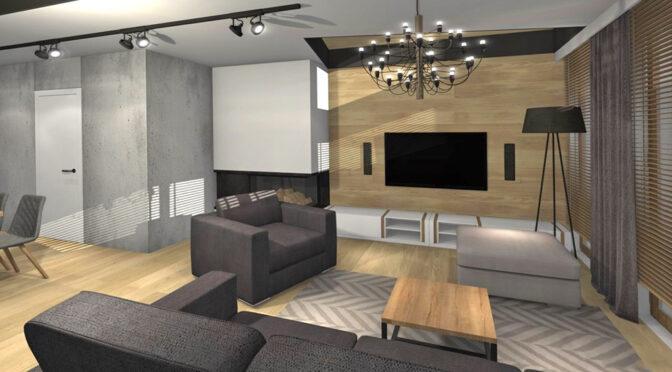 komfortowy pokój dzienny w luksusowym apartamencie na sprzedaż Kwidzyn