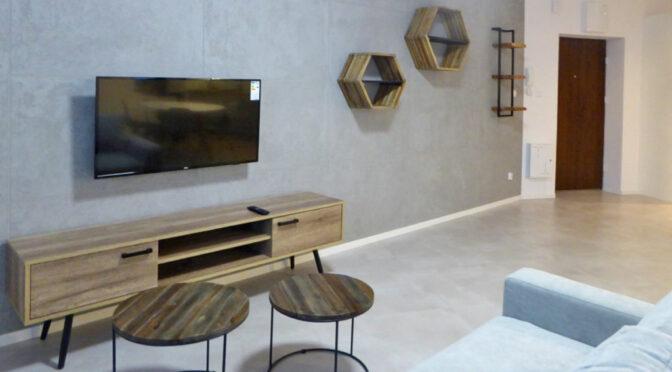 nowoczesne wnętrze salonu w luksusowym apartamencie do wynajęcia Piotrków Trybunalski