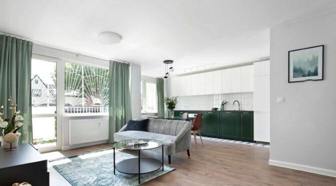 słoneczne wnętrze ekskluzywnego apartamentu do sprzedaży Gdańsk
