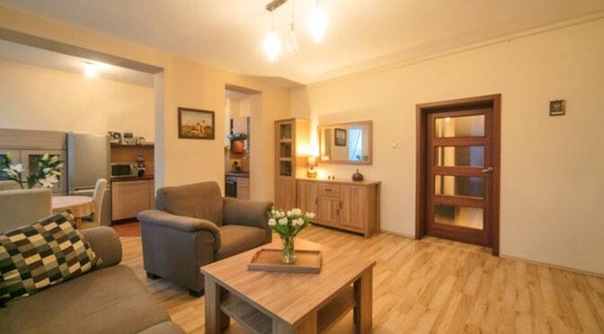 kameralny salon w luksusowym apartamencie do sprzedaży Szczecin