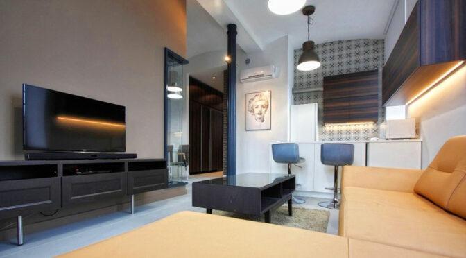 zaprojektowane zgodnie z najnowszymi trendami wnętrze luksusowego apartamentu do wynajęcia Łódź