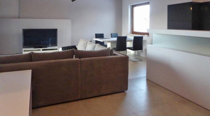 zaprojektowane w nowoczesnym stylu wnętrze luksusowego apartamentu do wynajęcia Piotrków Trybunalski