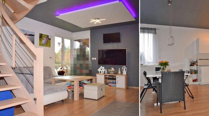 nowoczesne oświetlenie wnętrza luksusowej rezydencji na sprzedaż Ostrów Wielkopolski