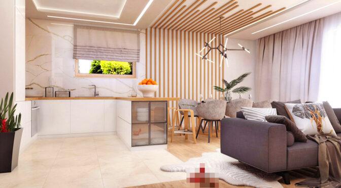 zaprojektowane w nowoczesnym designie wnętrze luksusowej rezydencji do sprzedaży Tarnów