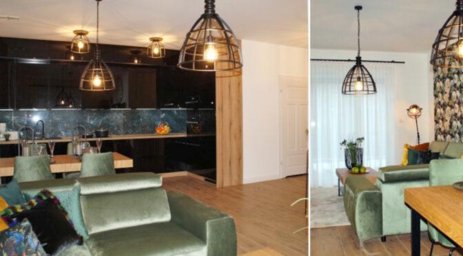 kameralne wnętrze luksusowego apartamentu na wynajem Słupsk