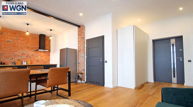 słoneczne i komfortowe wnętrze luksusowego apartamentu do wynajmu Sieradz