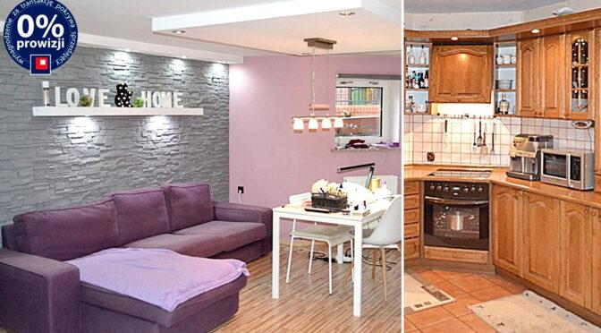 po lewej salon, po prawej kuchnia w luksusowej rezydencji na sprzedaż Lwówek Śląski