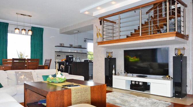 2-poziomowe wnętrze luksusowej rezydencji na sprzedaż Żagań (okolice)