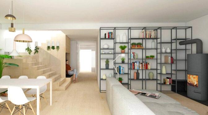 wizualizacja prezentuje nowoczesne wnętrze ekskluzywnej rezydencji do sprzedaży Katowice (okolice)