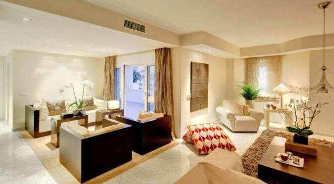 przestronne i słoneczne wnętrze ekskluzywnego apartamentu na sprzedaż Hiszpania (Malaga, Costa Del Sol)