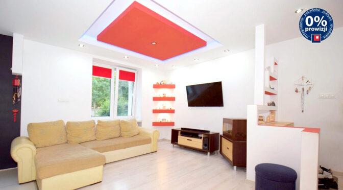 zaprojektowany w nowoczesnym designie salon w ekskluzywnym apartamencie na sprzedaży Lublin