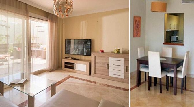 fragment ekskluzywnego pokoju dziennego w luksusowym apartamencie do sprzedaży Hiszpania (Costa Del Sol, Estepona, Marbella)