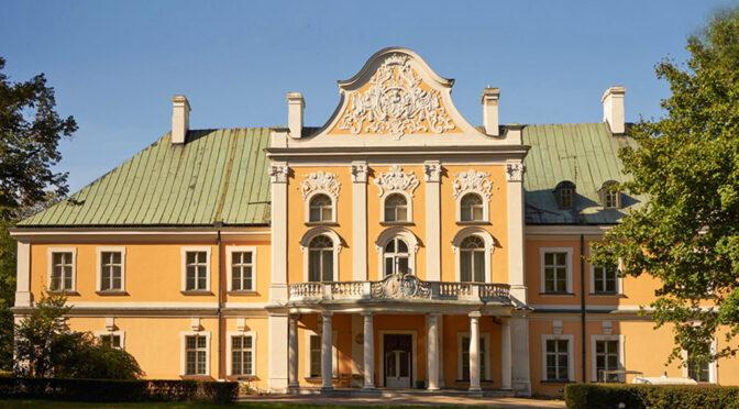 reprezentacyjne wejście z kolumnami do luksusowego pałacu do sprzedaży Wielkopolska