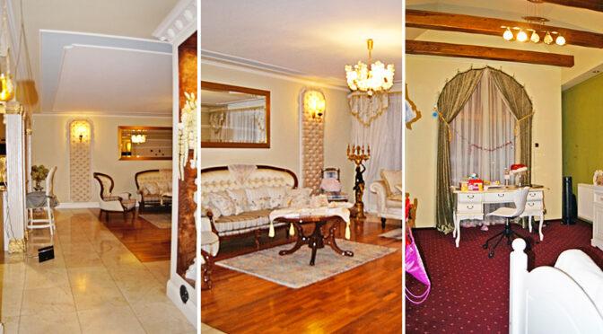 trzy ujęcia eleganckiego wnętrza luksusowej rezydencji do sprzedaży Częstochowa