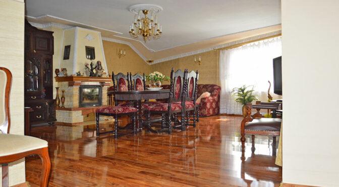 kameralny salon z kominkiem w luksusowej rezydencji do sprzedaży Szprotawa