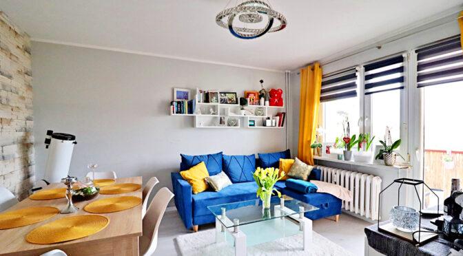 zaprojektowany zgodnie z najnowszymi trendami salon w luksusowym apartamencie na sprzedaż Gorzów Wielkopolski