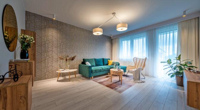kameralny salon w ekskluzywnym apartamencie na sprzedaż Starogard Gdański