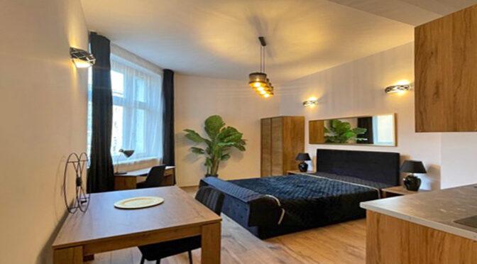 kameralne wnętrze ekskluzywnego apartamentu do wynajmu Szczecin